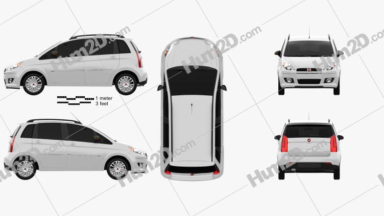 Fiat Idea 2012 Clipart Image