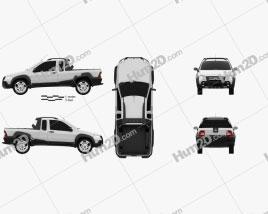 Fiat Strada Crew Cab Adventure 2012 car clipart
