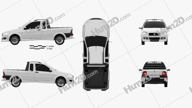 Fiat Strada Crew Cab Sporting 2012 car clipart