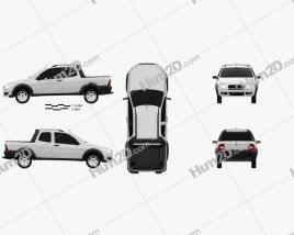 Fiat Strada Long Cab Working 2012