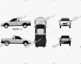 Fiat Strada Short Cab Working 2012