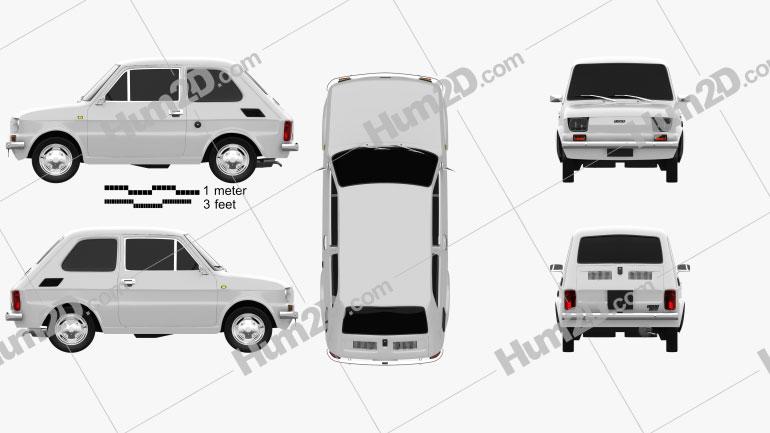Fiat 126 1976 Clipart Image