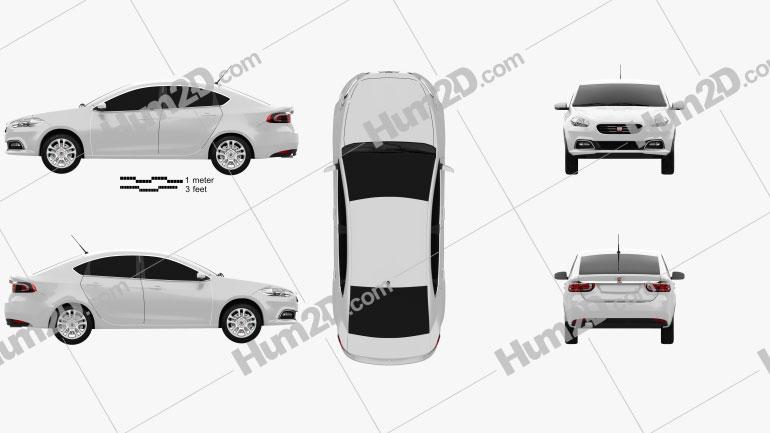 Fiat Viaggio 2013 car clipart
