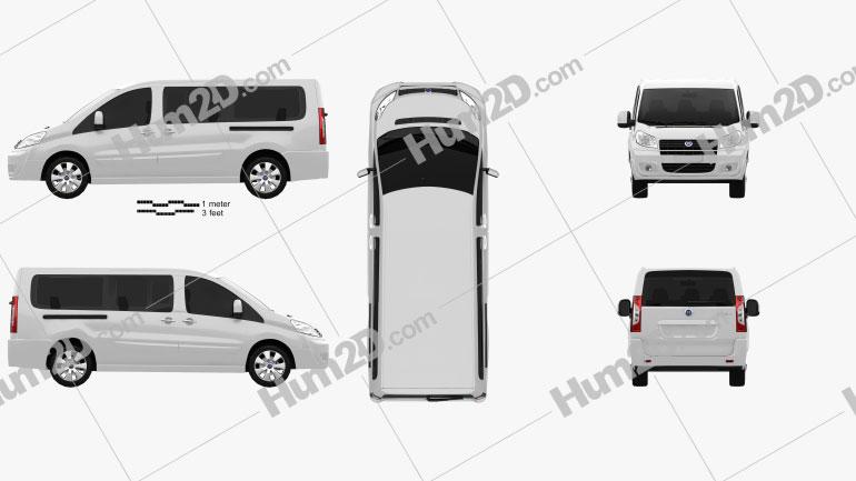 Fiat Scudo Combi L2H1 2011 clipart