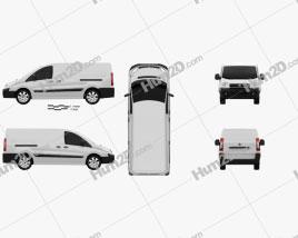 Fiat Scudo Panel Van L2H1 2011 clipart