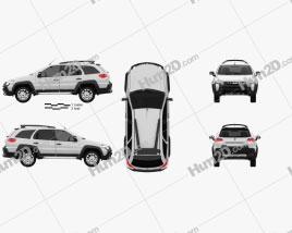 Fiat Palio Adventure 2012 Clipart