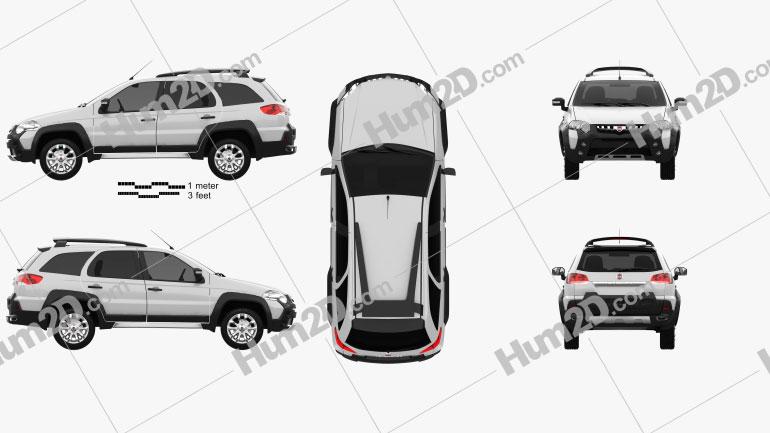 Fiat Palio Adventure 2012 Clipart Image