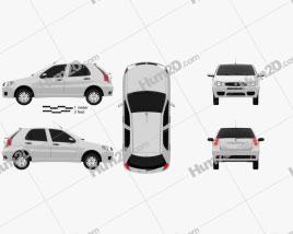 Fiat Palio Fire Economy 2012 car clipart