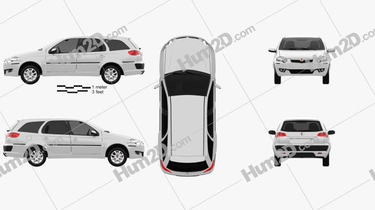 Fiat Palio Weekend 2012 car clipart