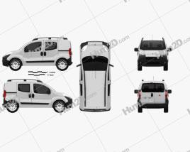 Fiat Fiorino Combi 2011 clipart