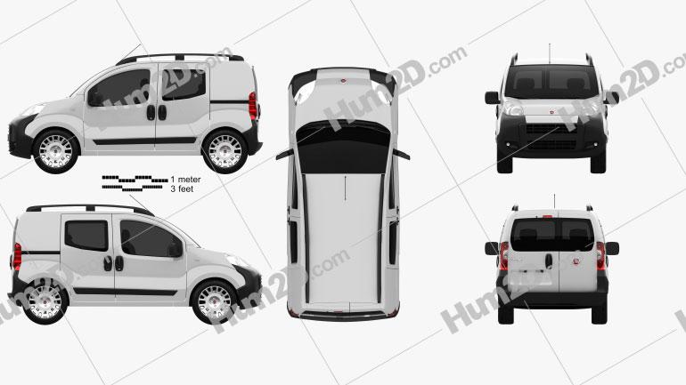 Fiat Fiorino Combi 2011 Clipart Image