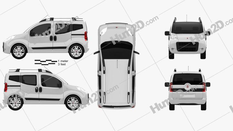 Fiat Fiorino Qubo 2011 Clipart Image
