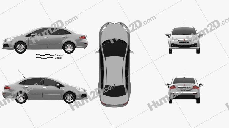 Fiat Linea 2013 car clipart