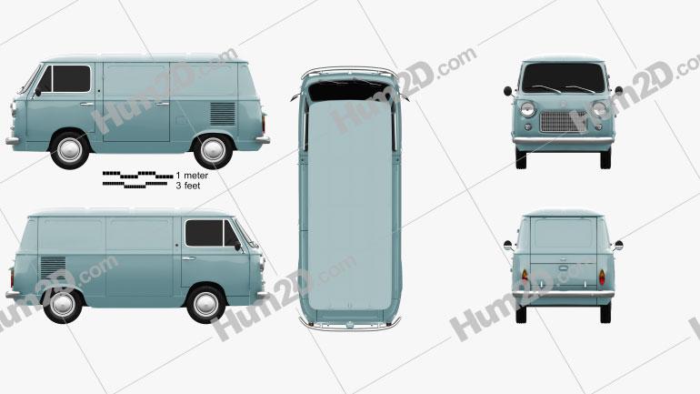Fiat 600 T 1967 clipart