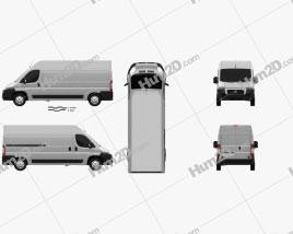 Fiat Ducato Panel Van LWB 2012 clipart