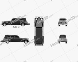 Fiat 2800 Torpedo 1939 Clipart