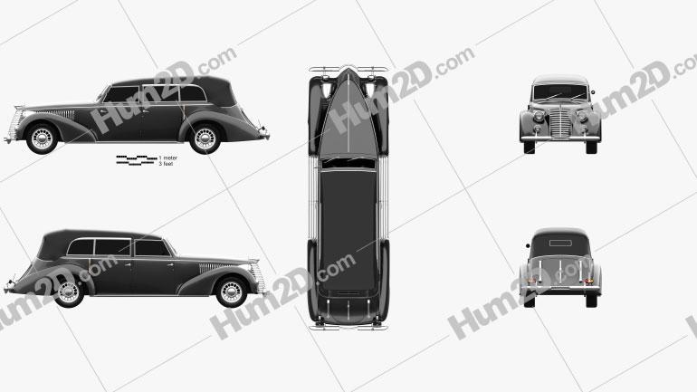 Fiat 2800 Torpedo 1939 car clipart