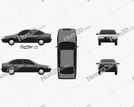 Fiat Tempra 1990 car clipart