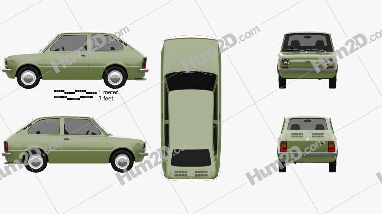 Fiat 133 1977 car clipart