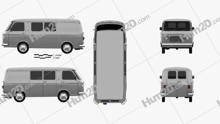 Fiat 238 1968 Clipart Image