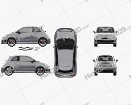 Fiat 500 Abarth 595 Competizione 2012 car clipart