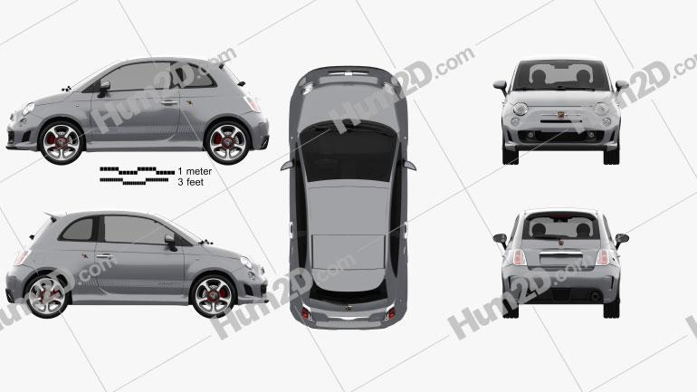 Fiat 500 Abarth 595 Competizione 2012 Clipart Image