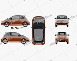 Fiat 500 Abarth 595 Turismo 2014 car clipart