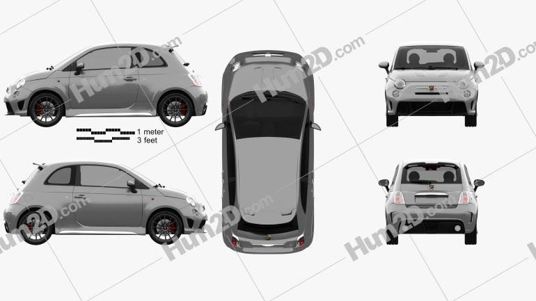 Fiat 500 Abarth 695 Biposto 2014 Clipart Image
