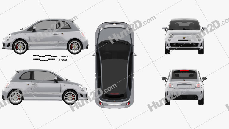 Fiat 500 C Abarth Esseesse 2010 car clipart