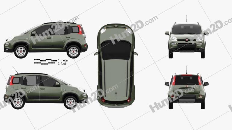 Fiat Panda 4×4 2012 car clipart