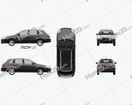 Fiat Croma 2008 car clipart