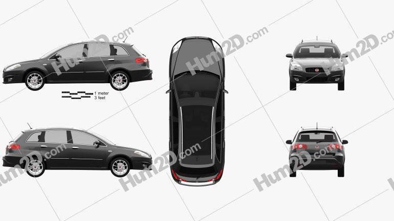 Fiat Croma 2008 Clipart Image