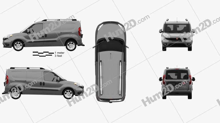 Fiat Doblo Cargo L2H1 2015 clipart