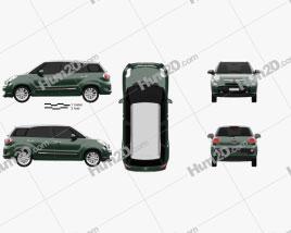 Fiat 500L (330) Living 2013 car clipart