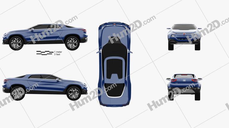 Fiat FCC4 2014 car clipart
