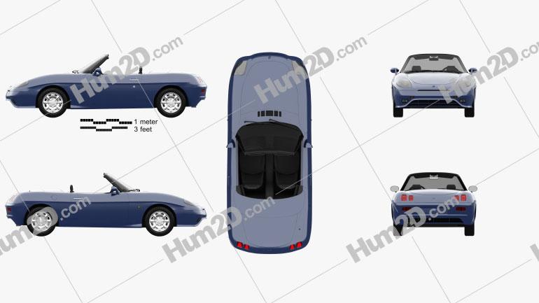 Fiat Barchetta 1995 Clipart Image