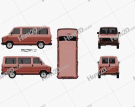Fiat Ducato Passenger Van 1981 clipart