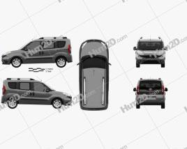 Fiat Doblo Passenger L1H1 2015 Clipart