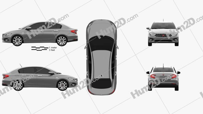 Fiat Aegea 2016 car clipart