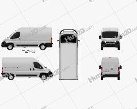 Fiat Ducato Panel Van L2H2 2014 clipart