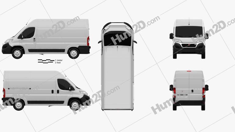 Fiat Ducato Panel Van L2H2 2014 Clipart Image