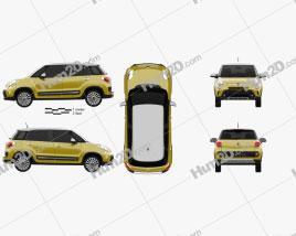 Fiat 500L Trekking 2013 car clipart