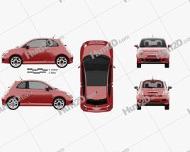 Fiat 500 Sport 2014 car clipart
