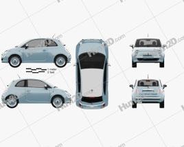 Fiat 500 San Remo 2014 car clipart