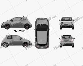 Fiat 500 Turbo 2014 car clipart