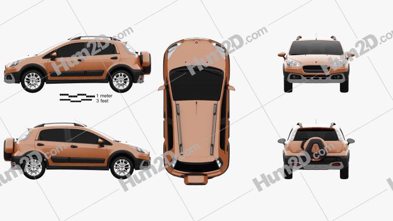 Fiat Avventura 2014 car clipart