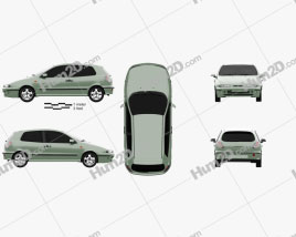 Fiat Bravo 1995 car clipart