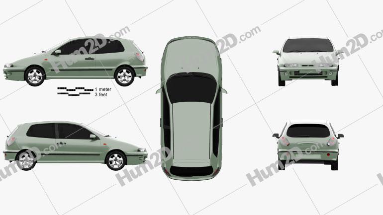 Fiat Bravo 1995 Clipart Image