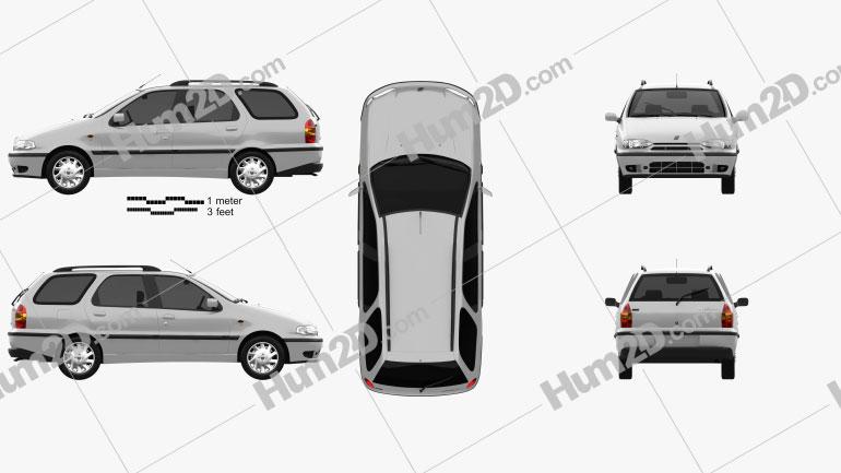 Fiat Palio Weekend 1997 car clipart