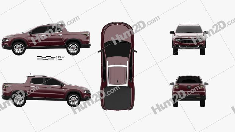 Fiat Toro 2016 car clipart